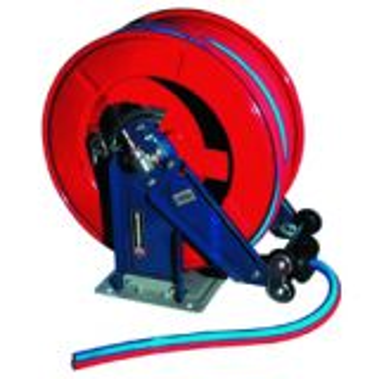 Hose reel for twin welding hose