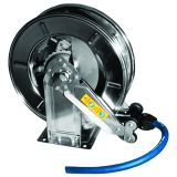 """Hose reel in stainless steel for hose up to 1/2"""""""