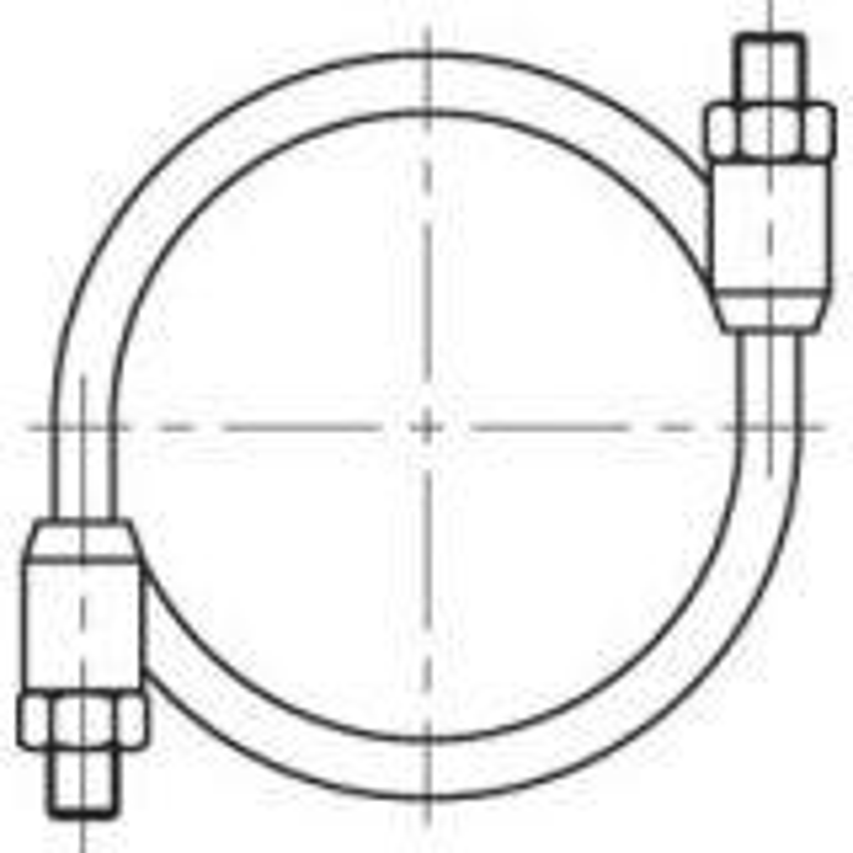 Round bolt clamp 40-46mm